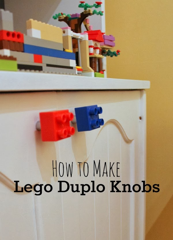 how to make lego cabinet knobs