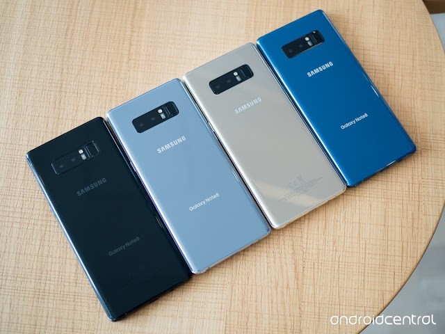 Samsung Galaxy Note 8 is available in different colour variants