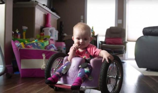 Ο Καλύτερος Μπαμπάς του Κόσμου: Η Κόρη του γεννήθηκε ανάπηρη και δεν είχε Χρήματα για Καροτσάκι. Έτσι έφτιαξε ένα Μόνος του!