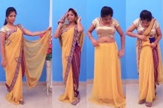 How To Wear Saree In Different Styles | Saree Draping Styles For Party For Party & Weddings