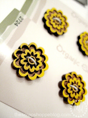 floral flower buttons