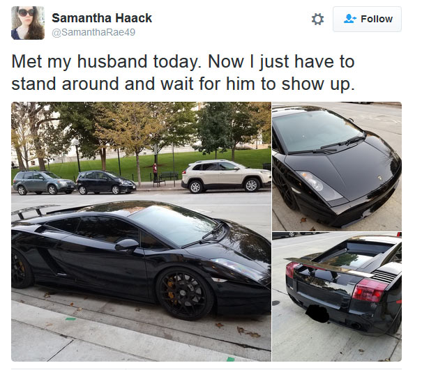 Lady preys for Lamborghini owner, says he must marry her