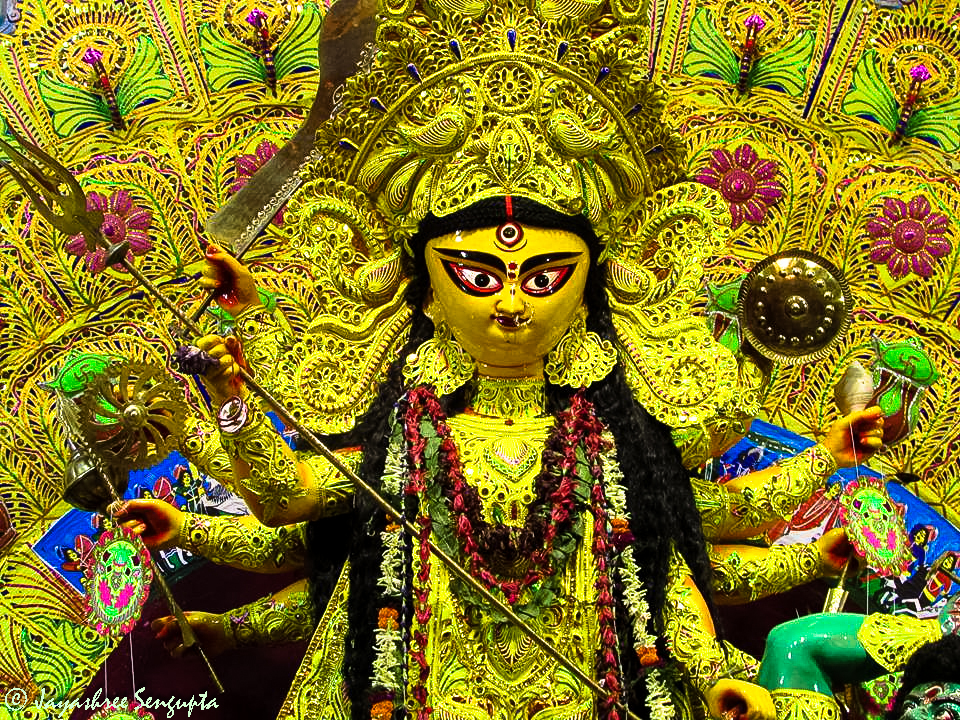 The idol of Ma Durga