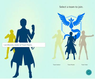 Penjelasan dan Cara Mengganti Team Pokemon Go Menjadi Mystic, Valor dan Instict