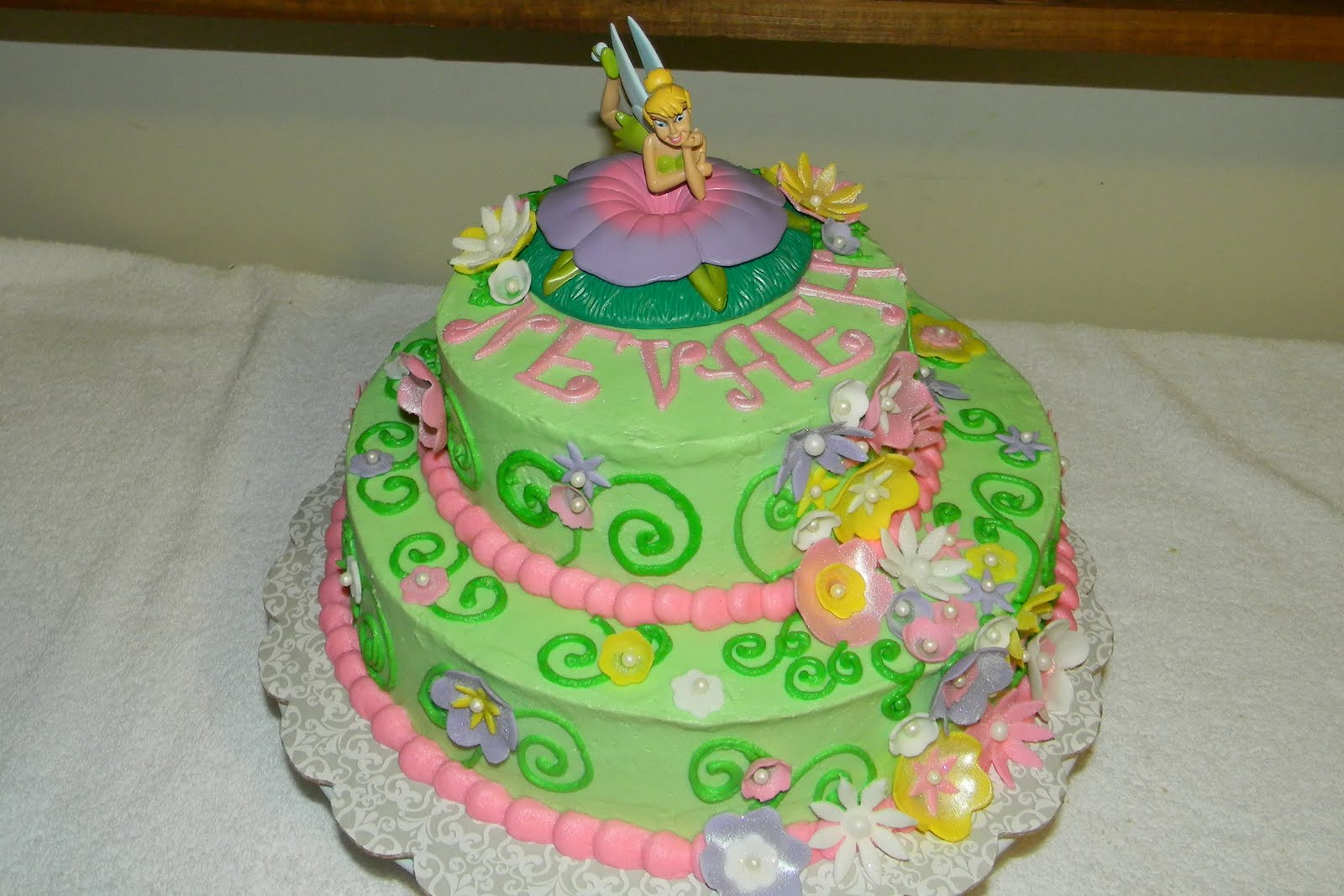 Custom Cakes By Christy Tinkerbell Baby Shower Cake