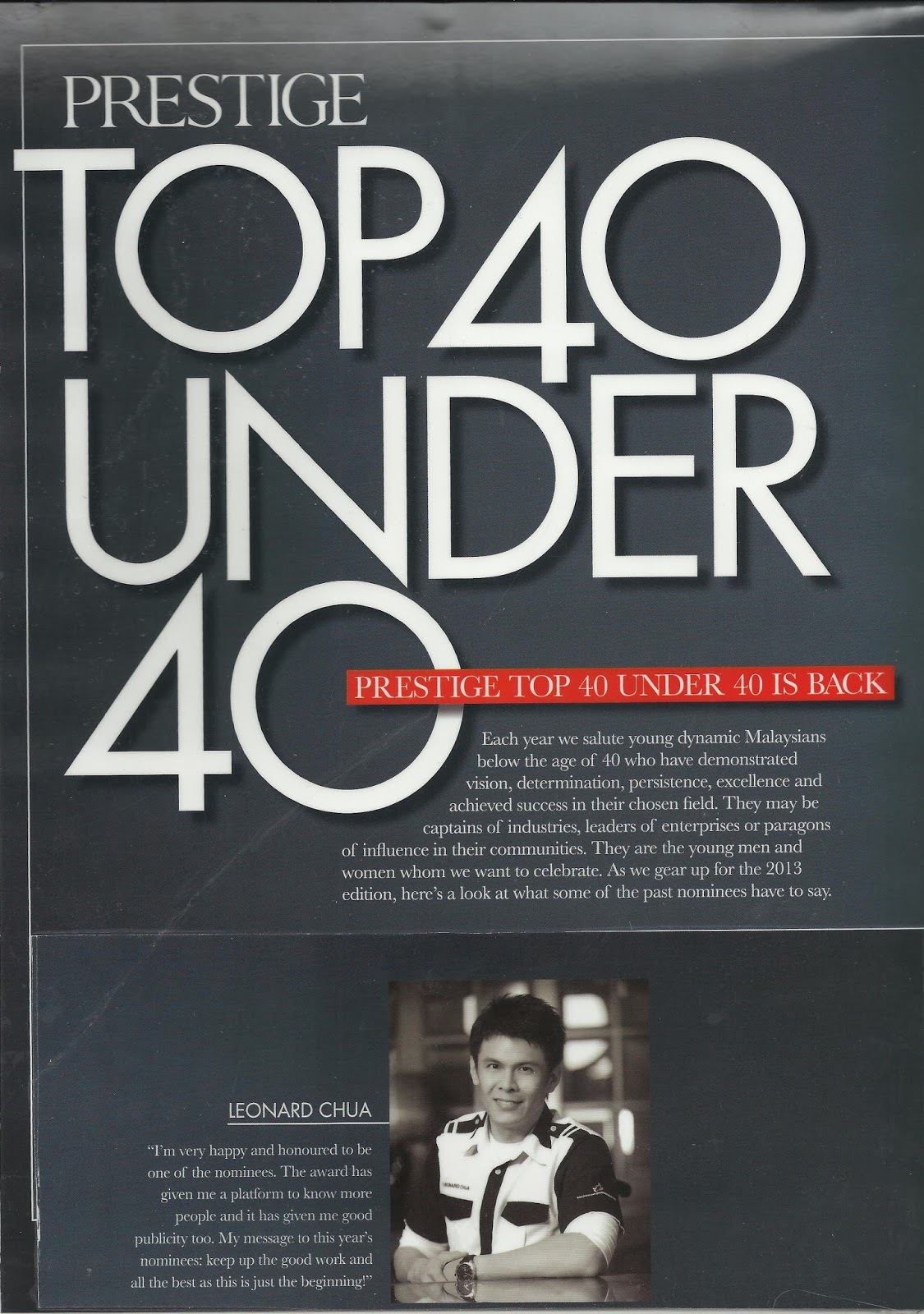 Top 40 under 40 men