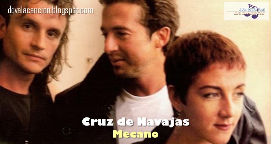 Cruz De Navajas Mecano 1986