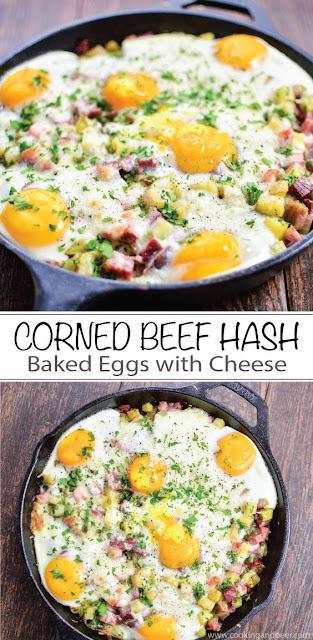 Corned Beef Hash Baked Eggs