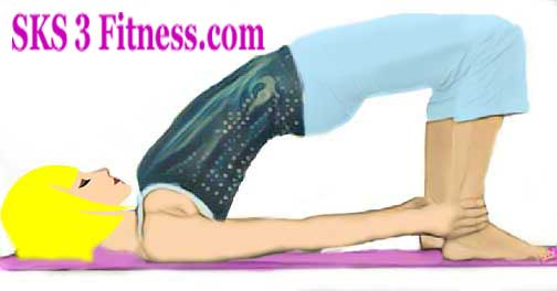 Yoga Girl showing How to do Bridge Pose - Setu Bandhasana