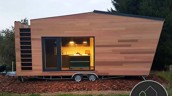 Tiny house town contemporary home from tiny house belgium for Modern tiny homes on wheels