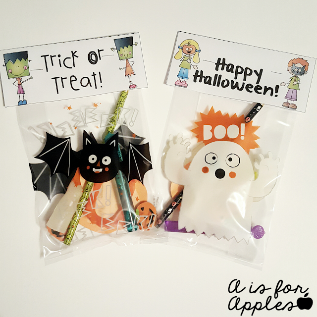 Halloween goody bag tags