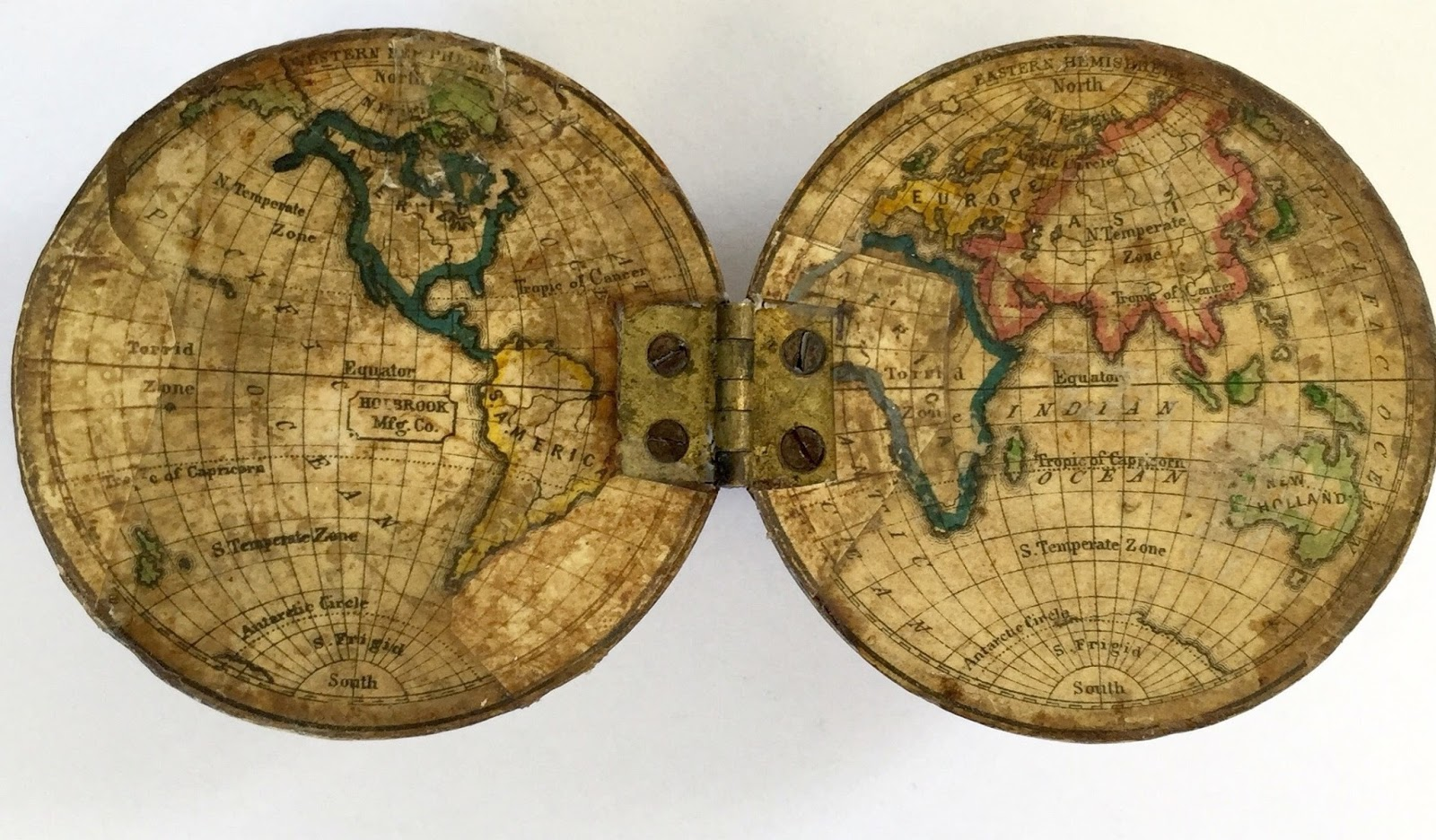 Collecting antique and vintage globes a holbrook 3 inch hinged school globe jake recently sold gumiabroncs Images