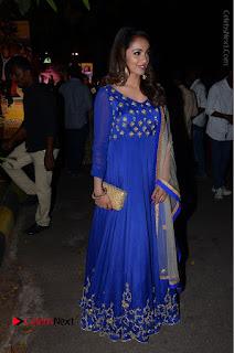 Telugu Actress Tejaswi Madivada Pos in Blue Long Dress at Nanna Nenu Na Boyfriends Audio Launch  0107.JPG