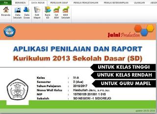 Aplikasi raport hasbullah jaini