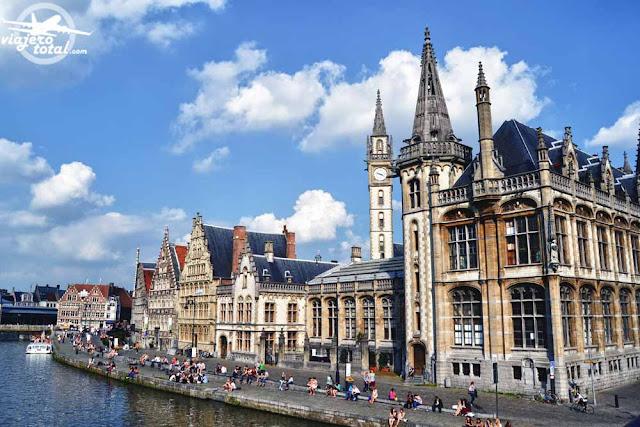 Gante - Ghent - Gent - Bélgica - Belgium - Río Lys