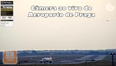 Câmera ao vivo do aeroporto de praga