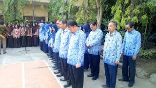 Upacara kemerdekaan HUT RI ke-73 SMAN 11 Surabaya