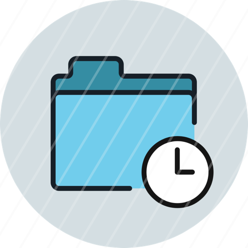 date, files, folder, history, storage, time, icon