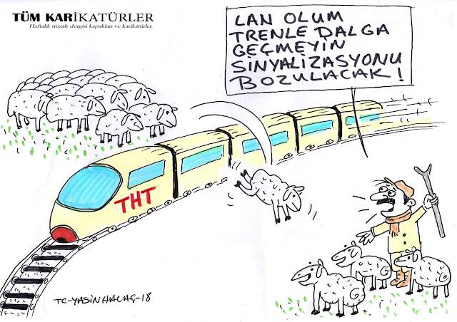 ankara hızlı tren kazası karikatür