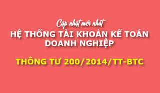 Hệ thống tài khoản kế toán theo Thông tư 200/2014/TT-BTC