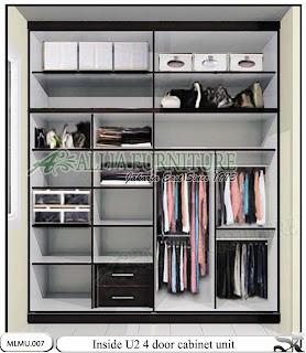 tampak dalam Lemari pakaian minimalis model cabinet unit u2