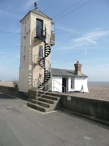 Old Lookout on Crag Path in Aldeburgh