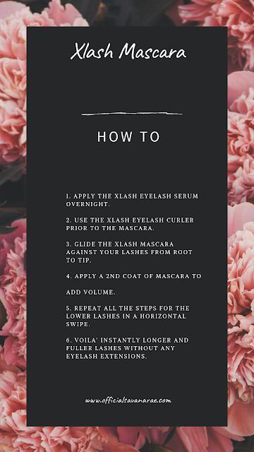 XLASH MASCARA HOW TO APPLY