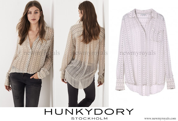 Crown Princess Victoria wore HUNKYDORY Blouse