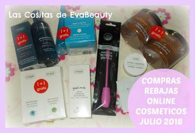 Compras Rebajas Online Cosmeticos Julio 2018