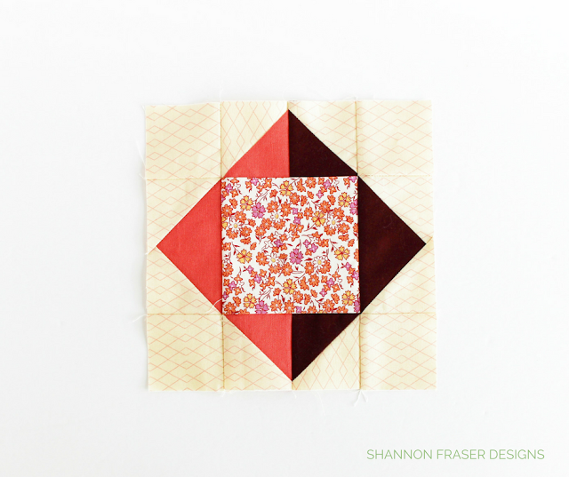 Square Peg Quilt Block | Shannon Fraser Designs | Modern Quilting | Sew-A-Long | Sewcial Bee Sampler with Sharon Holland Designs & Maureen Cracknell