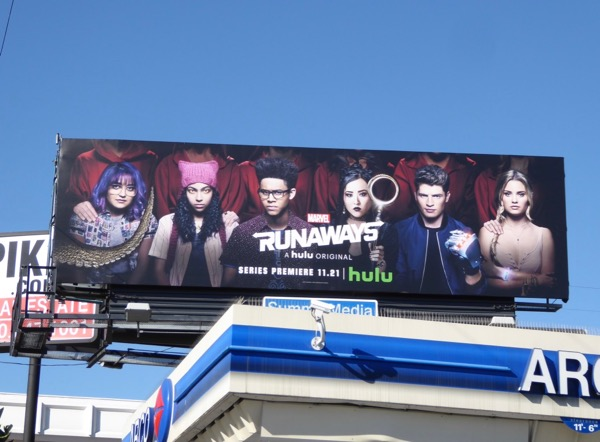 Marvel Runaways series premiere billboard