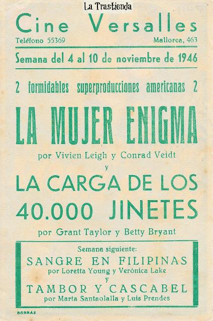 Programa de Cine - La Mujer Enigma - Vivien Leigh - Conrad Veidt
