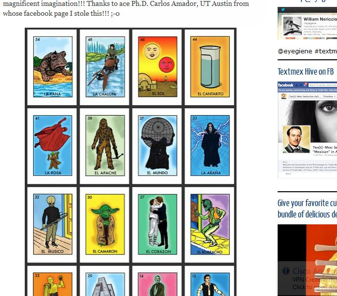 A Testimony To The Mainstream Recognition Of Loteria Template Or Proof That Star Wars Mythos Extends Beyond Limits Por Culture It