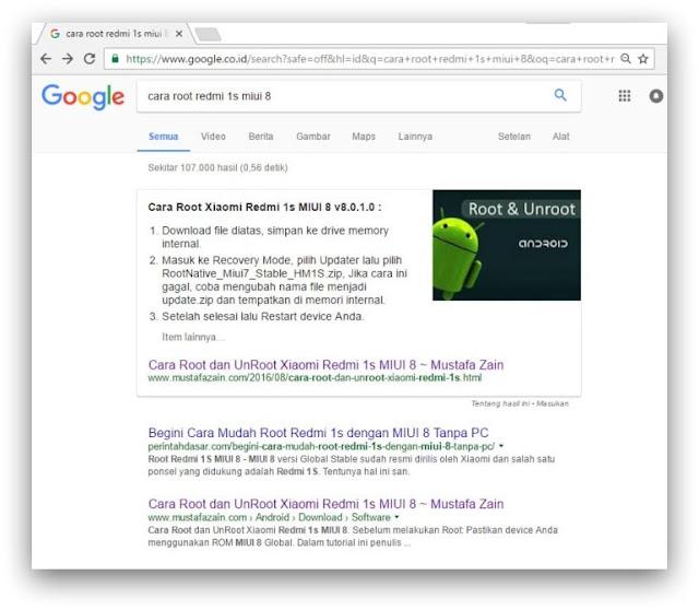 Cuplikan Unggulan di Penelusuran Google