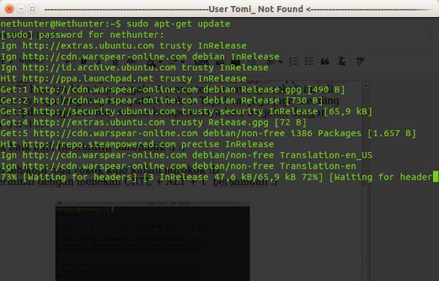 Cara Update Linux