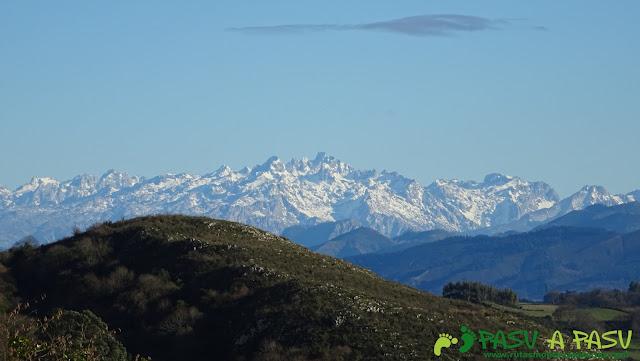 Picos de Europa desde Muncó, Siero