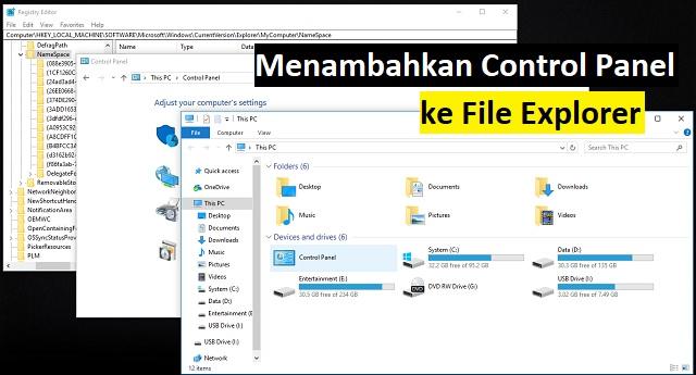 Cara menambahkan Control Panel ke File Explorer 1