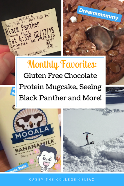 Gluten Free Monthly Favorites: Gluten Free Protein Mug Cakes, Seeing Black Panther and More
