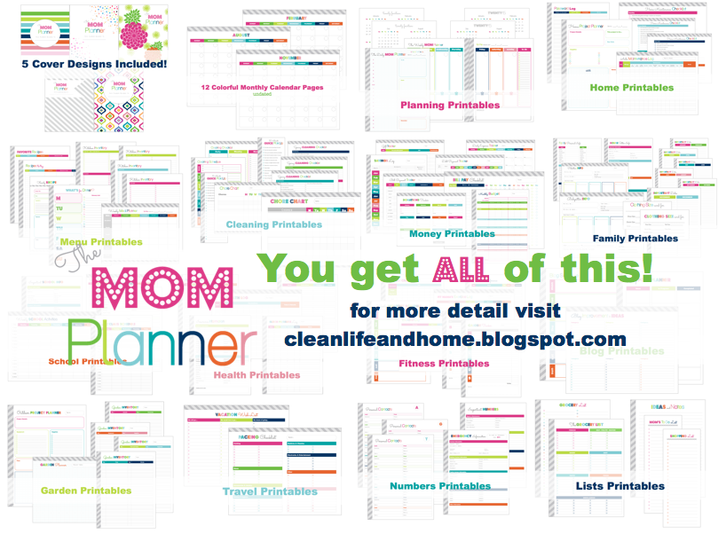 Clean Life and Home: The Mom Planner: Printable Home