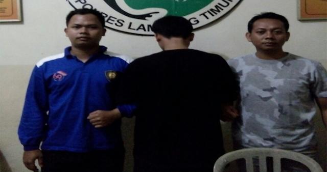 Resahkan Warga Edar Narkoba, IS Di Tangkap Sat Res Polres Lampung Timur