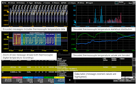 A closer look at the oscilloscope display from Figure 1 shows encoded and decoded temperature data