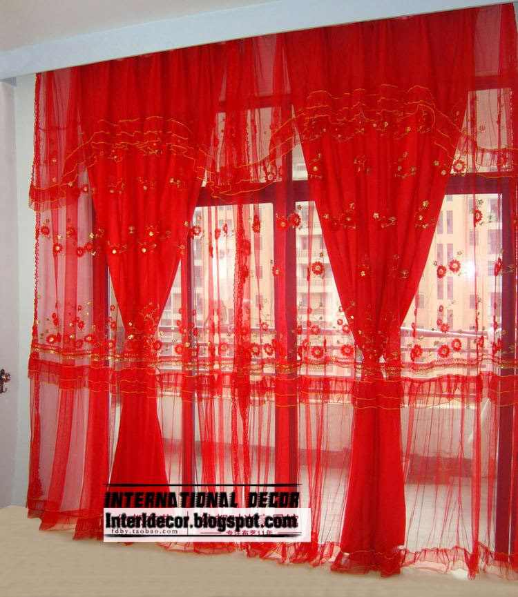 Red Sheer Curtains Unique