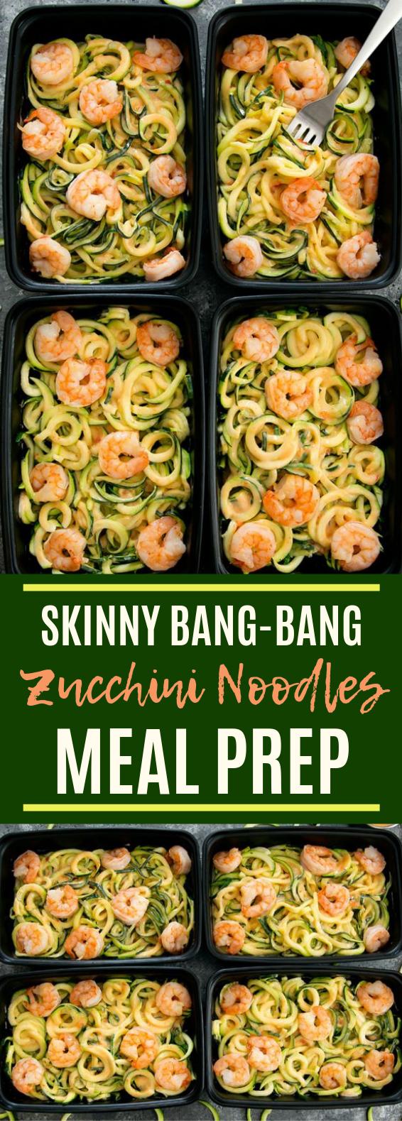 Skinny Bang Bang Zucchini Noodles Meal Prep #lunch #keto