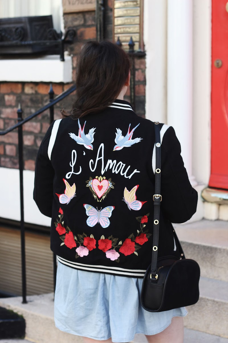 New Look embroidered bomber jacket | It's Cohen Blog