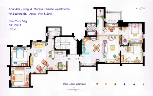 02-Friends-Monica-Rachel-And-Chandler-Joey-Apartments-Floor-Plan-Inaki-Aliste-Lizarralde