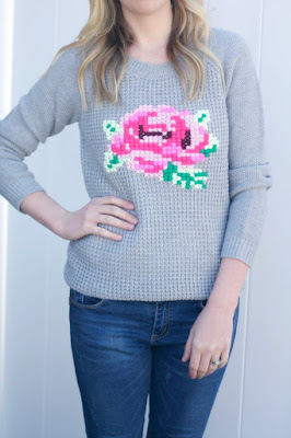 http://diycandy.com/2015/03/diy-cross-stitch-flower-sweater/