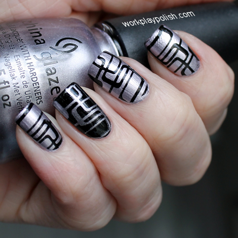 China Glaze Retro Stamping Nail Art