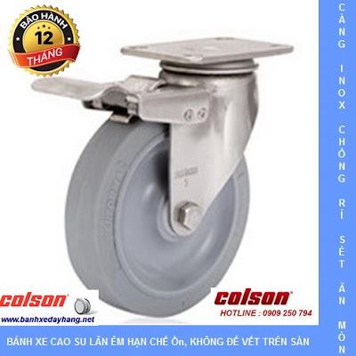 Bánh xe đẩy Inox 304, bánh xe Performa tải từ 90kg đến 136kg/bánh www.banhxedayhang.net