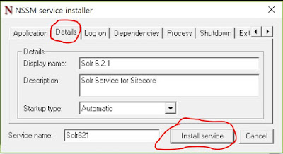 NSSM service display name and description