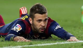 Jordi Alba has inssit he s happy at Barcelona